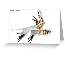Pallid Harrier caricature Greeting Card