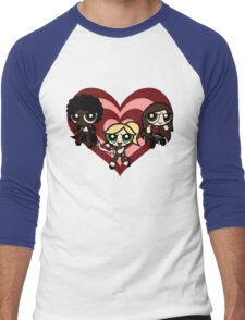 PowerPuff Slayers Men's Baseball ¾ T-Shirt