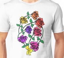 Roses, Freedom, Liberty and Justice for All Unisex T-Shirt