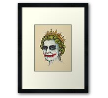 God Save the Villain Framed Print