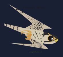 Peregrine Falcon diving caricature Kids Tee
