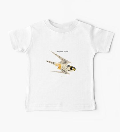 Peregrine Falcon diving caricature Baby Tee