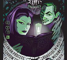 Poster for Shadow Society   Arcana Elegos & Joshua Pfeiffer (DJ Fact .50) by caseycastille