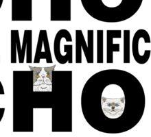 The Magnificats Cartoon Chop Chop Sticker