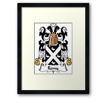 Remy Coat of Arms (French) Framed Print