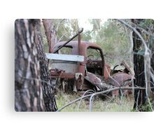 Rusty Truck in the Trees Canvas Print
