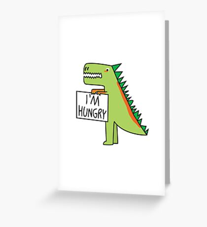 Hungry Dinosaur Greeting Card