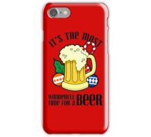 Christmas It's The Most Wonderful Time For A Beer Design iPhone Case/Skin