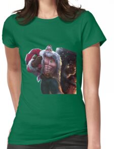 Santa Braum League Of Legends Womens Fitted T-Shirt