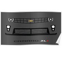 Chevrolet Camaro ZL1 headlight and grill design Poster