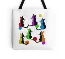 Abstract colorful cats  Tote Bag