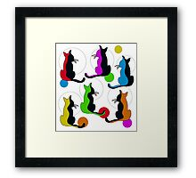 Abstract colorful cats  Framed Print