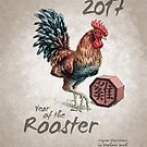 Year of the Rooster 2017 - Cover (neutral) by Stephanie Smith