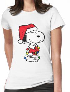 PEANUTS SNOOPY CHRISTMAS KENARI 3 Womens Fitted T-Shirt