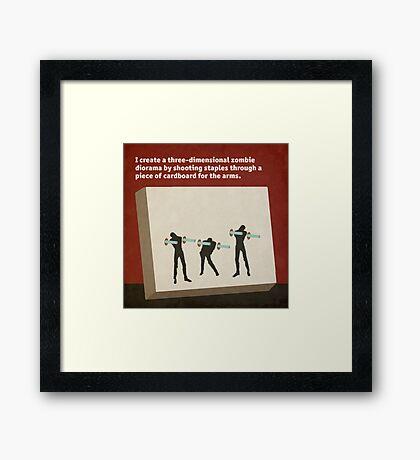 Staple Zombies Framed Print