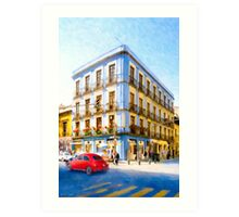 On The Streets In Mexico City Art Print