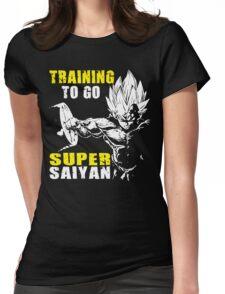 Training To Go Super Saiyan (Vegeta Hardcore Squat) Womens Fitted T-Shirt