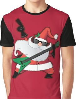 Rock Star Santa Claus Graphic T-Shirt