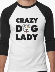 Crazy Dog Lady Men's Baseball ¾ T-Shirt