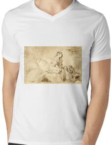 Oh! If Only He Were as Faithful to Me - Jean-Honoré Fragonard - ca. 1770 Mens V-Neck T-Shirt