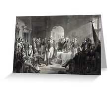George Washington and His Generals Greeting Card