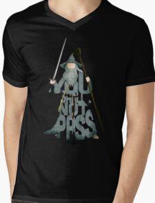 Gandalf The Grey You Shall Not Pass Mens V-Neck T-Shirt