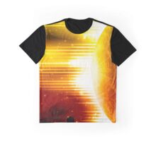 Retro space background Graphic T-Shirt