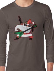 Rock Star Santa Claus Long Sleeve T-Shirt