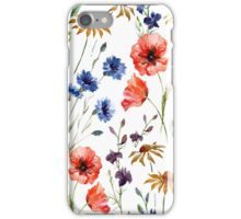 Floral Pattern poppy  iPhone Case/Skin