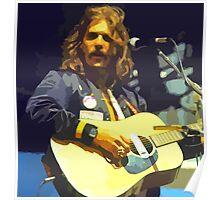 Glenn Frey Abstract Art Poster