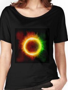 Space background with a star Women's Relaxed Fit T-Shirt