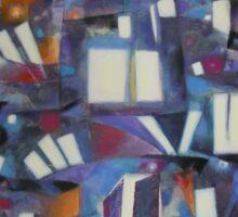 Nocturne Colline urbaine Sticker