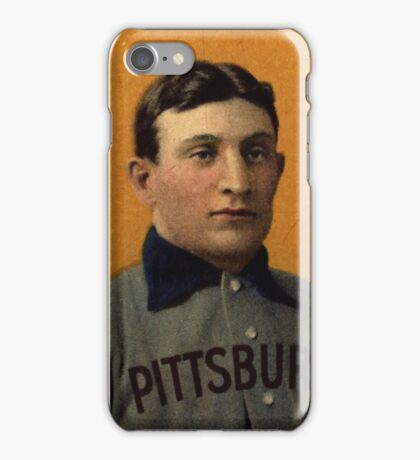 Honus Wagner T206 Baseball Card iPhone Case/Skin