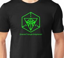 Emerald Triangle Enlightened (transparent) Unisex T-Shirt