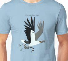 White-bellied Sea Eagle caricature Unisex T-Shirt