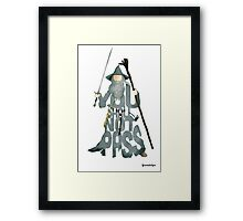 Gandalf The Grey You Shall Not Pass Framed Print