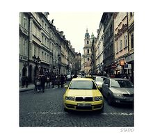 Urban Hustle on the Streets of Prague by stado