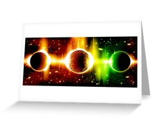 Retro space background Greeting Card