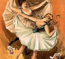 Two Ballerinas by Vintage Works