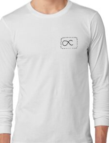 Dashed Proportions Small Logo Long Sleeve T-Shirt