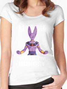 You Wouldn't Like Me When I'm Hungry (Beerus) Women's Fitted Scoop T-Shirt
