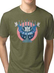 Joy to the World (Hanukkah Version) Tri-blend T-Shirt