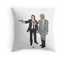 Jules and Vincent from Pulp Fiction Typography Quote Design Throw Pillow