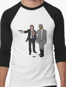 Jules and Vincent from Pulp Fiction Typography Quote Design Men's Baseball ¾ T-Shirt