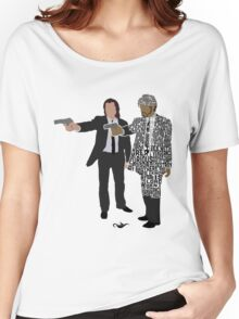 Jules and Vincent from Pulp Fiction Typography Quote Design Women's Relaxed Fit T-Shirt