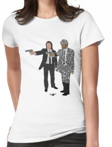Jules and Vincent from Pulp Fiction Typography Quote Design Womens Fitted T-Shirt