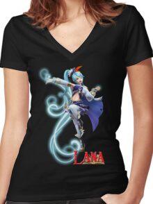 Lana - Hyrule Warriors Women's Fitted V-Neck T-Shirt