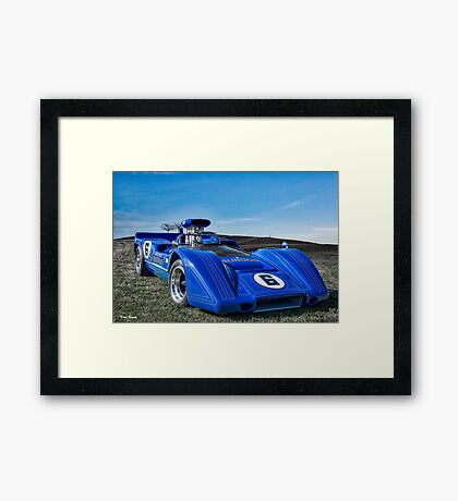 1967 McLaren M6A Can Am Race Car Framed Print