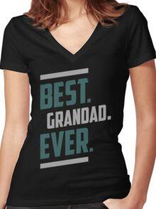 Best. Grandad. Ever. T-shirt Women's Fitted V-Neck T-Shirt