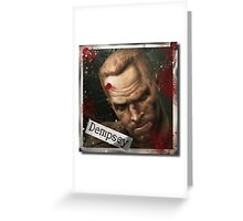 Tank Dempsey Zombies Greeting Card